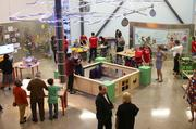 This Innovator's Workshop is equipped with trusses, struts, connectors and perforated boxes of different heights to encourage children to explore building and design.