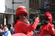 Bootsy Collins waves to fans during the Opening Day Parade.