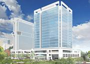 Office development is also coming back into play as the market tightens. Charlotte developers have been making plans for new buildings, with one or more poised to break ground next year. One possibility is this tower adjacent to The Westin uptown that Trinity Partners is marketing.