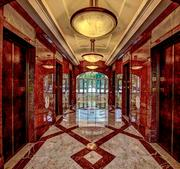 The inside of the lobby at Millennium Tower, which was purchased by Dallas-based Gaedeke Group LLC in an all-cash deal.