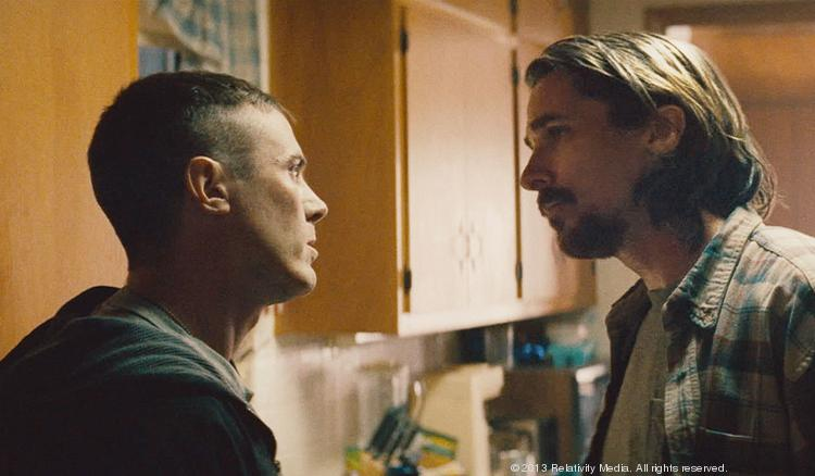 "Casey Affleck and Christian Bale star in Relativity Media's ""Out of the Furnace."""