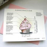 A cupcake card created by Jennifer Bishop and sold on her Etsy site Architette Studios.