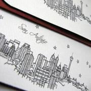 San Antonio skyline card created by Jennifer Bishop and sold at Architette Studios on Etsy.