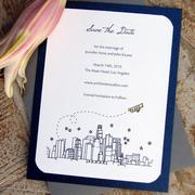 Save-The-Date card created by Jennifer Bishop.