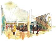 """These """"Mad Men""""-esque renderings of Commerce Tower  come from a 1965 leasing brochure."""