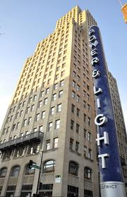 The Power & Light Building sits just outside the Kansas City Power & Light District.