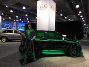 The Green Lantern made an appearance at the KIA station. DC Entertainment teamed up with the automaker's Soul model to create a cool custom ride.