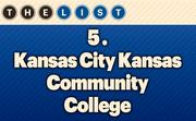 No. 5 Kansas City Kansas Community College  Fall 2013 Enrollment: 6,575 Location: Kansas City, Kan. For more information, check out the 2013 Top colleges and universities available to KCBJ subscribers.