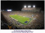 Louisiana State University City:  Baton Rouge Population:  230,058 Median income:  $36,894 Stadium/capacity:  Tiger Stadium (92,542) Football revenue:  $68.8 million  Football coach/salary:  Les Miles ($4.5 million)   Ohio State University City:  Columbus Population:  809,798 Median income:  $40,463 Stadium/capacity:  Ohio Stadium (102,329) Football revenue:  $70.9 million Football coach/total pay:  Urban Meyer ($4.6 million)