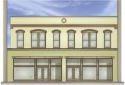 This rendering shows what developer Mike Langton has planned for the Old Republic Title building.