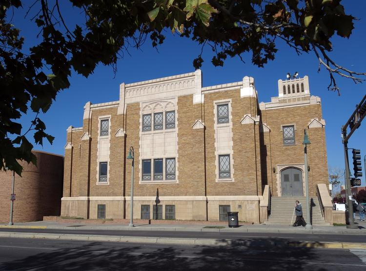 University of New Mexico officials hope to purchase the Downtown First Baptist Church site for their Innovate ABQ business factory project.