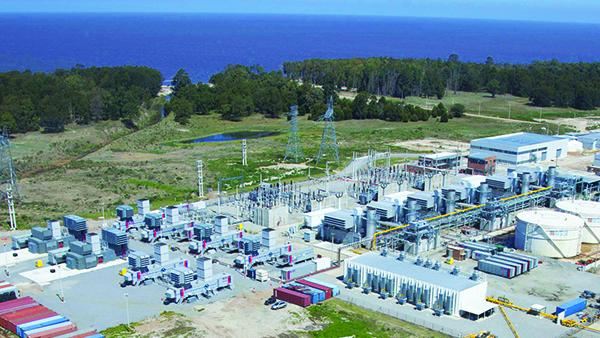 A previous APR energy project in Uruguay that required APR Energy to ship eight mobile turbines by air and sea.