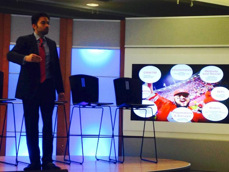 San Francisco 49ers CTO Kunal Malik spoke at an SVForum sports tech conference on Thursday regarding the cutting-edge technology fans can expect at Levi's Stadium.
