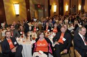 "Attendees from presenting sponsor AccruePartners wore shirts with the company slogan, ""switch."" To obtain digital files or prints for your own use, send an email to nancy@nancypiercephoto.com with ""Fast 50"" in the subject line."