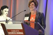 "Amy Pack of Accrue Partners, which has sponsored the Fast 50 event for the past  five years.To obtain digital files or prints for your own use, send an email to nancy@nancypiercephoto.com with ""Fast 50"" in the subject line."