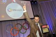 "A representative from C5 Insight celebrates after being announced as the No. 17-ranked fastest-growing company.To obtain digital files or prints for your own use, send an email to nancy@nancypiercephoto.com with ""Fast 50"" in the subject line."