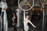 What's a hotel opening without some fancy acrobatics?