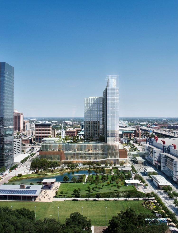 By 2017, Houston's downtown stock of hotels is expected to jump from 16 hotels to potentially 22 or more, with the hotel room count potentially rising 44 percent, from 5,096 to about 7,350 rooms, according to Central Houston Inc.