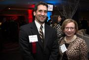 Baxter Walker of Colliers International, left, with Terry Lawyer of Southpoint Graphics