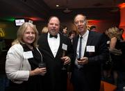 From left to right: Laura Wilson of the SAS Institute Inc., Tim Wilson of Balfour Beatty Construction, and Greg Brown of Raleigh Metal Recycle