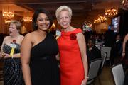 Janece Smoot-Kleban and Catherine Meloy, both of Goodwill of Greater Washington. Meloy was recognized as Most Admired CEO in the nonprofit category.