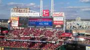 There was a record-breaking crowd at Great American Ball Park.