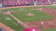 Reds starter Johnny Cueto pitches.
