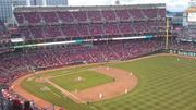 The crowds thinned as the marathon, 13-inning game continued.