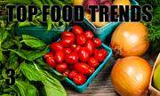 No. 3. The National Restaurant Association's annual What's Hot culinary forecast makes predictions for food trends in 2014. Environmental sustainability is the No. 3 food trend.