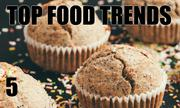 No. 5. The National Restaurant Association's annual What's Hot culinary forecast makes predictions for food trends in 2014. Gluten-free cuisine is the No. 5 food trend.