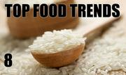 No. 8. The National Restaurant Association's annual What's Hot culinary forecast makes predictions for food trends in 2014.  Non-wheat noodles and pasta, such as rice, quinoa or buckwheat, are the No. 8 food trend.