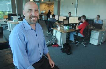 ColdLight CEO Ryan Caplan in his company's office in Wayne