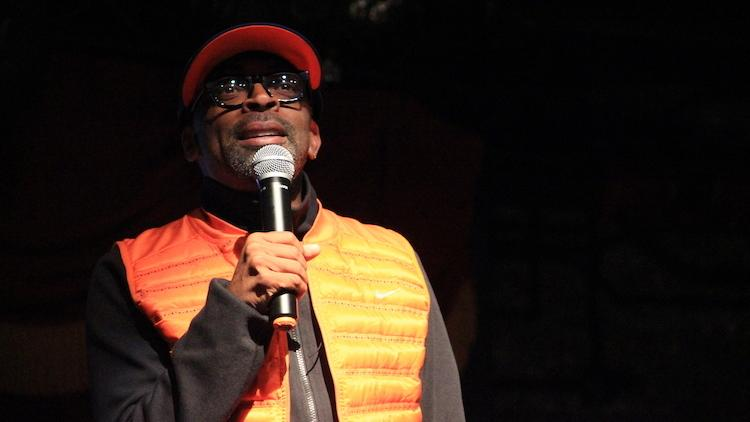 Spike Lee speaks at TedX Brooklyn on Friday, December 6, 2013. He's concerned about the changes to Fort Greene brought on by the influx of wealthier residents.