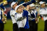 The Duke band performs at halftime.