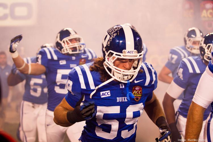 Duke University's Blue Devils (pictured) faced the Florida State Seminoles in the ACC Football Championship game Saturday night at Bank of America Stadium. Here's a look at the game.