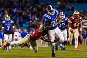 Duke tight end David Reeves gets brought down after a long catch and run.