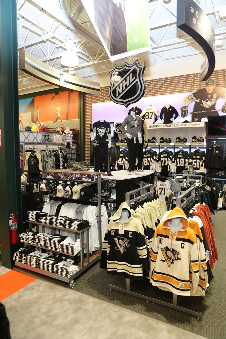 The NHL super shop at the Dick's Sporting Goods store in Cranberry Township.