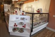 Here's a look at the counter where desserts are displayed in the shop.