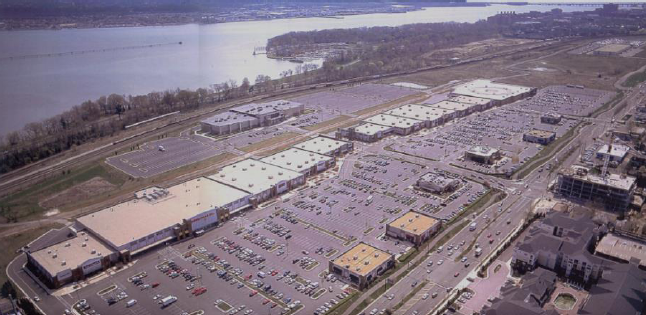 The big box dominated North Potomac Yard, as it exists today. The shopping center is fully leased, and JBG Rosenfeld Retail is now in charge.
