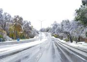 Buckner Road in East Dallas was sanded, de-iced and open for travel early on Friday.