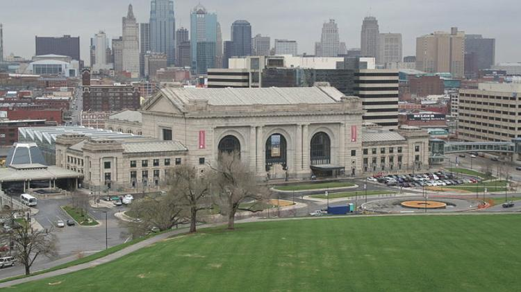 Union Station as seen from Liberty Memorial.