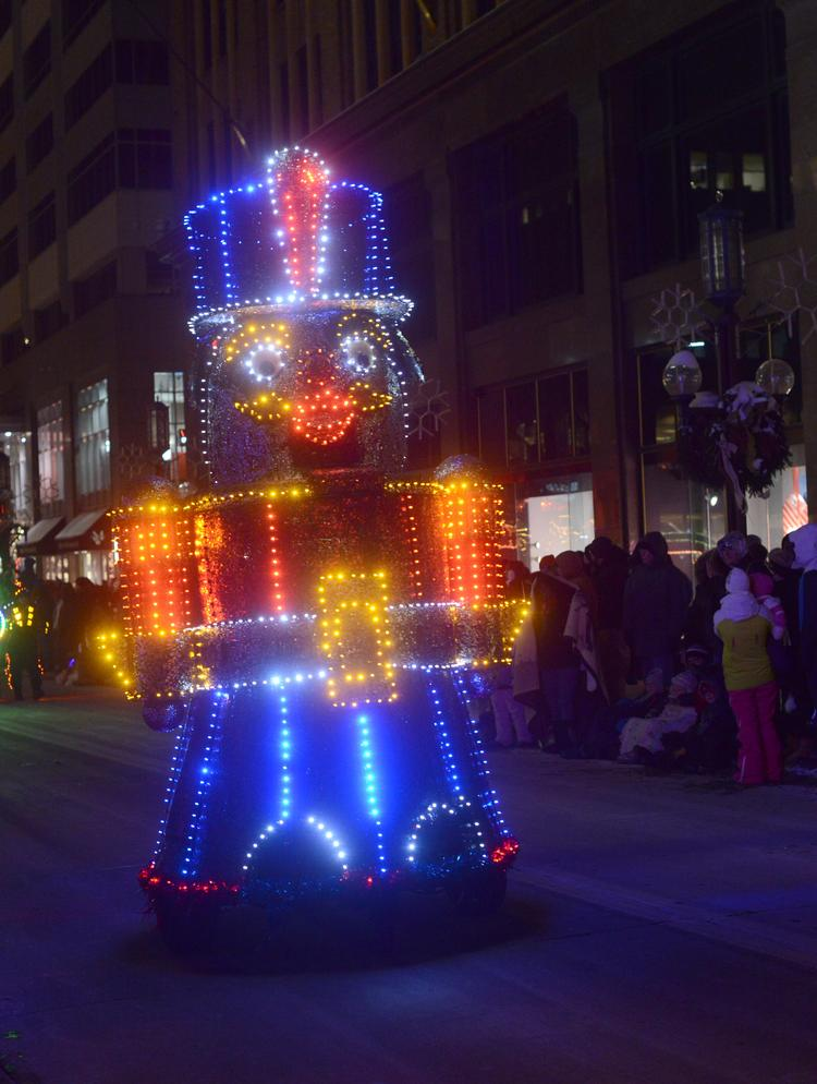 The Minneapolis Holidazzle in 2014 will be centered around a European-style Winter Market instead of a parade (as seen here in this float from 2013), according to plans unveiled today.