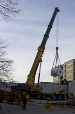 Super-charged GE Healthcare MRI, and its 42-ton magnet, finally delivered to Medical College