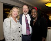 Union Bank mortgage consultant Brenda Walker, Sacramento Regional Transit chief of facilities Mike Mattos and life coach and former Sacramento Monarchs player Ruthie Bolton pose at the Sacramento Black Chamber of Commerce gala.