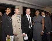 City of Sacramento director of the office of the city manager Francine Tourmour, city Economic Development Department director Jim Rinehart, Sacramento chief of police Sam Somers, DGS small business consultant Yolanda Hazewood and DGS manager Cecil Rowe all pose at the Sacramento Black Chamber of Commerce gala.