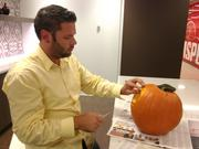 When your title is art director you are immediately put in charge of carving the annual office pumpkin. This year Derek Thomson got second place in the 333 S. Seventh office building carving contest.