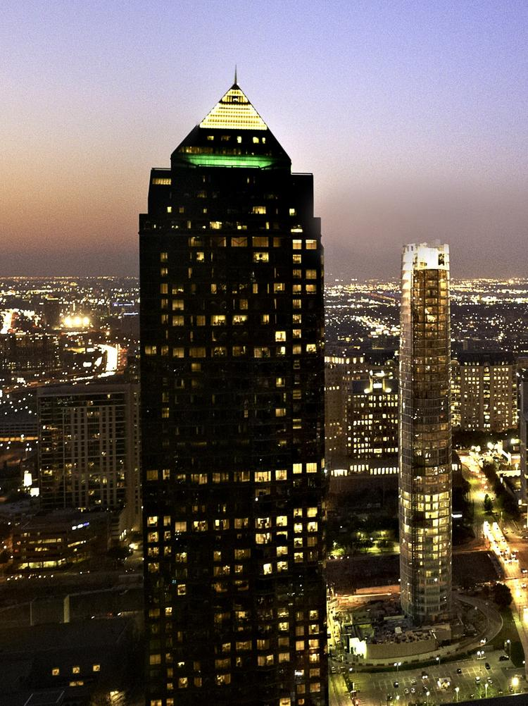 The Trammell Crow Center in downtown Dallas.