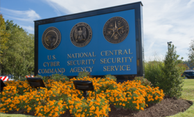 A National Security Agency sign