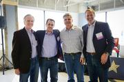 SwitchPitch, a role-reversal event that allows corporations to pitch their project needs to qualified startups, was held March 21 at 1776 in downtown D.C. From left, John Sculley of Open Peak, Michael Goldstein of SwitchPitch, AOL co-founder Steve Case and David Steinberg of Exhilarator.