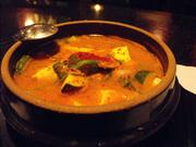 Miso-based seafood soup turned a cold day warm at Aura.